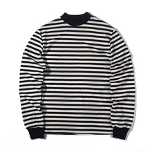 fashion loose Striped T-shirt streetwear summer oversize extend t shirts designer long sleeve cotton Autumn cool usa size casu