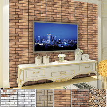 30*30CM DIY 3D Brick Home Decoration Wall Stickers Living Room Bedroom Decor PVC Self Adhensive Wallpaper Art home Decals