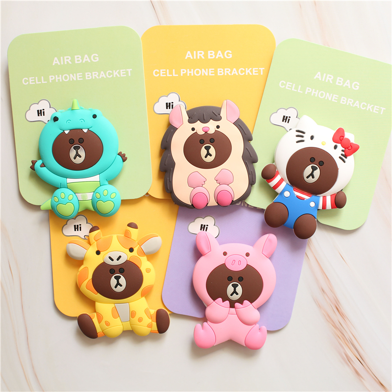 Universal Stand Mobile Phone Stretch Bracket Cartoon Stitch Air Bag Phone Expanding Phone Stand Finger Phone Car Holder