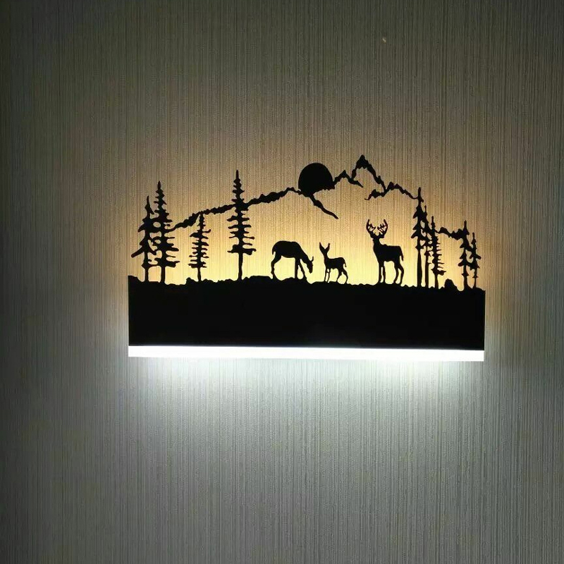 Sconces Black Acrylic Creative Modern Led Wall Light For Living Room Beside Room Bedroom Lamps LED Sconce Bathroom Wall Lamp LED