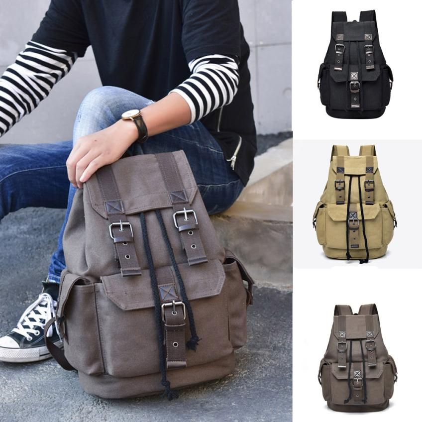 Backpack Vintage Canvas Backpack School Bag Travel Bags Large Capacity Backpack Men Sac A Dos