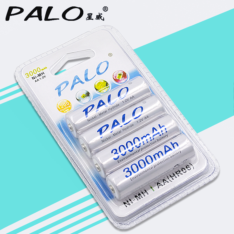 Original Palo AA Battery Batteries 1.2V AA 3000mAh Ni-MH Pre-charged Rechargeable Battery 2A Baterias for Camera Toy футболка print bar vincent black shadow