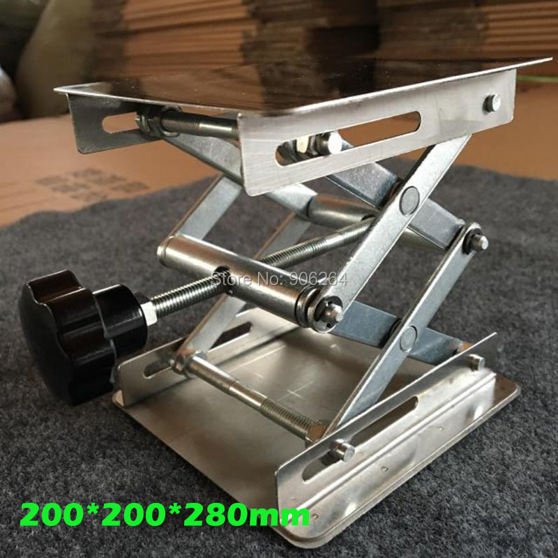 Manual High Quality 200 200 280mm Small Manual Lab Lift Table Stainless Steel Lifting Platform