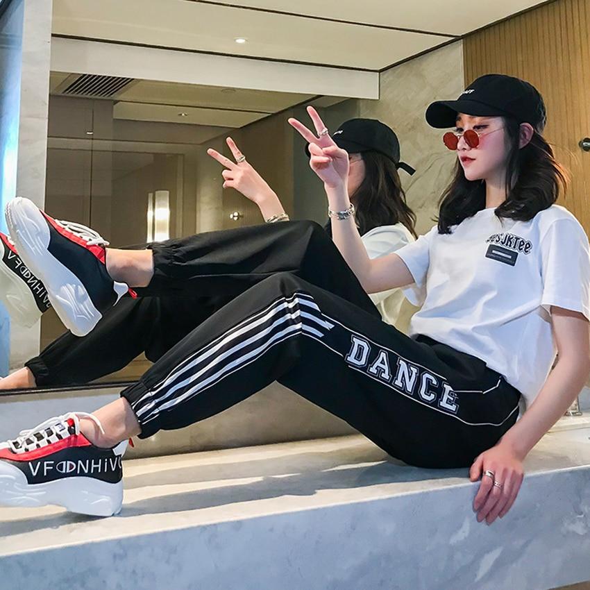 Casual Harem Pants hip hop fashion plus size S-2XL loose beam legs women's couple Harajuku pants dropshipping pantalon femme 33