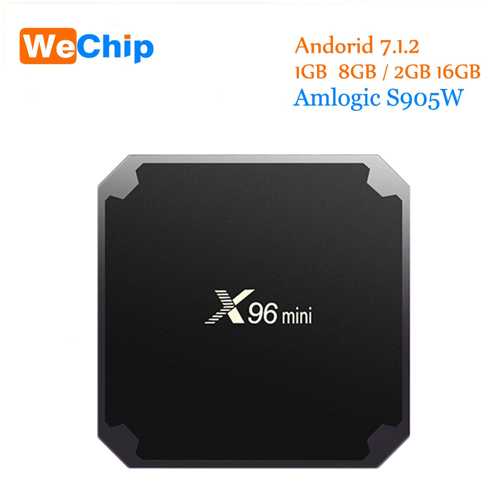 X96 Mini Amlogic S905W Quad Core Android 7.1 Tv Box 1G+8G/2G+16G Support 4K IPTV Media Player 2.4G Wifi x96mini Set Top Box