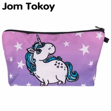Jom Tokoy Women Cosmetic Bag 3D Printing unicorn Makeup BagsCute Cosmetics Pouchs For Travel Ladies Pouch