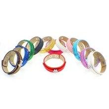 10PCS 8mm Sequins Charms Button Leather Bracelets Fit Slide Charms Slide Letters DIY Jewelry Accessories