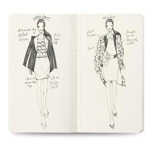 Image 3 - 3Pcs/Lot Womens Mini Neon Light Sketch Book Fashion Illustration Templates Fahion Model Templates for Beginners