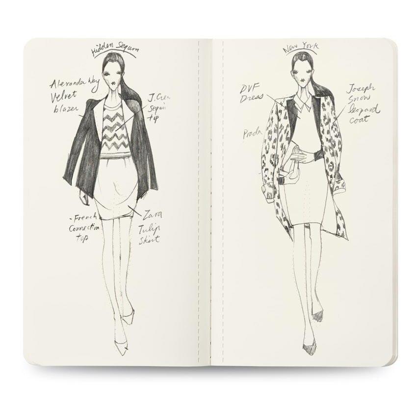 3pcs Lot Womens Mini Neon Light Sketch Book Fashion Illustration Templates Fahion Model Templates For Beginners Aliexpress
