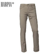 Harpia Summer Classic Mens Micro-Elastic Cotton Casual Pants Business Trousers Long Male Slim Stretch Plus Size 8xl