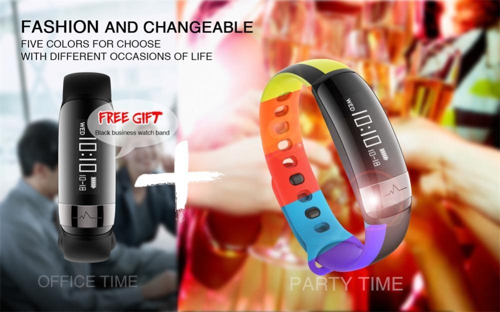 HUINIU Sport Smart Band Waterproof Bluetooth Bracelet Activity Tracker Heart Rate Monitor Smartband Message Reminder Wristbands 2