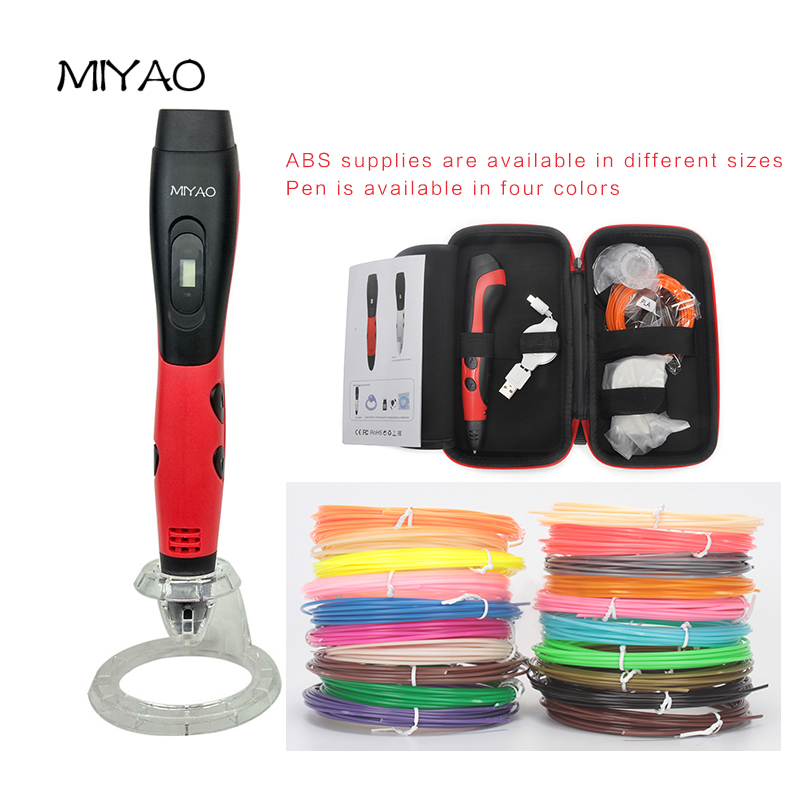 MIYAO 1nd 3D Scribble Pen Allows Kids To Bring Any And All Ideas To Life In 3D Non-Toxic Plastic with ABS Filament 3D Pen