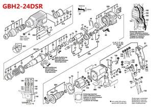Image 4 - 220 240V 6 치아 앵커 전기자 로터 보쉬 용 교체 24 GBH2 24DSR GBH2 24DFR GBH2SR GBH2 24RLE GBH2 24DRE GBH2 24RE