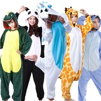 Dinosaur Pikachu Giraffe Anime Pijama Cartoon Cosplay Warm Hood Onesies Sleepwear Adult Unisex Homewear Cute Animal