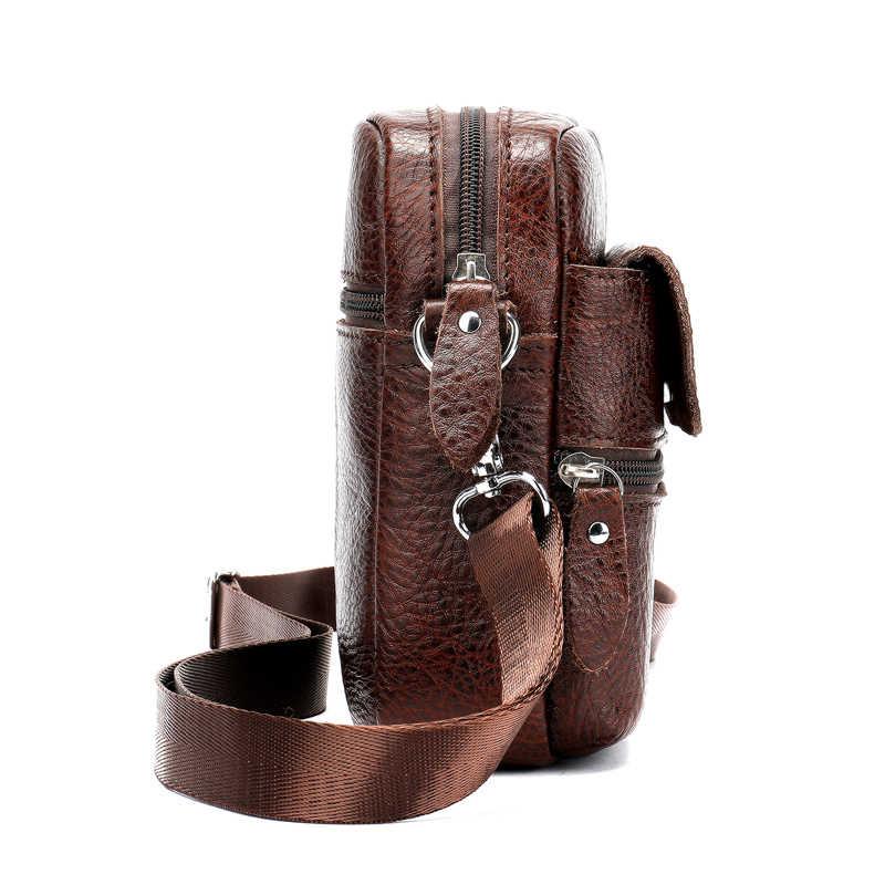 Westal Mini Schoudertas Voor Mannen Echt Leder Messenger Bags Mannen Schoudertassen Kleine Lederen Crossbody Tassen Man Echt