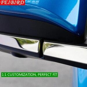 Image 4 - 304 Stainless Steel For TOYOTA RAV4 RAV 4 2014 2015 2016 2017 2018 Side Door Mirrors Rearview Stripe Cover Trim Kit