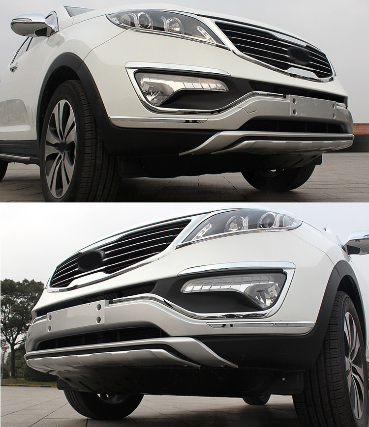 Spoiler bumper protector cover guard plastic skid plate for Kia Sportage run 2011 2012 2013 2014 2015 2016 built guard bump guard plate after the pedal steel trunk for 2011 2012 2013 2014 vw volkswagen polo hatchback