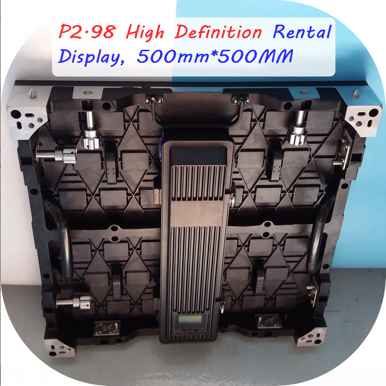 P2.98mm rental die-casting rental display, 500mm*500mm, high gray grade, refresh rate,4K Utral Clear Display