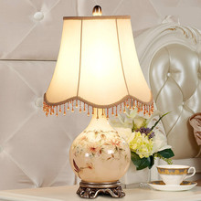High End Modern European Elelgant Hand Painted Cermiac Led E27 Table Lamp For Living Room Bedroom Wedding Deco H 56cm 1223