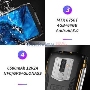 Image 4 - Смартфон Blackview BV6800 Pro, 5,7 дюйма, 6580 мАч, IP68 водонепроницаемый, 16 МП, NFC, 4 Гб 64 ГБ, Android 8,0, мобильный телефон