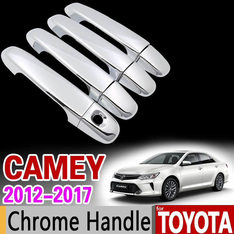 for Toyota Camry 2012 - 2017 XV50 Chrome Handle Cover Trim Set for Daihatsu Altis Aurion 2013 2015 2016 Accessories Car Styling special car trunk mats for toyota all models corolla camry rav4 auris prius yalis avensis 2014 accessories car styling auto