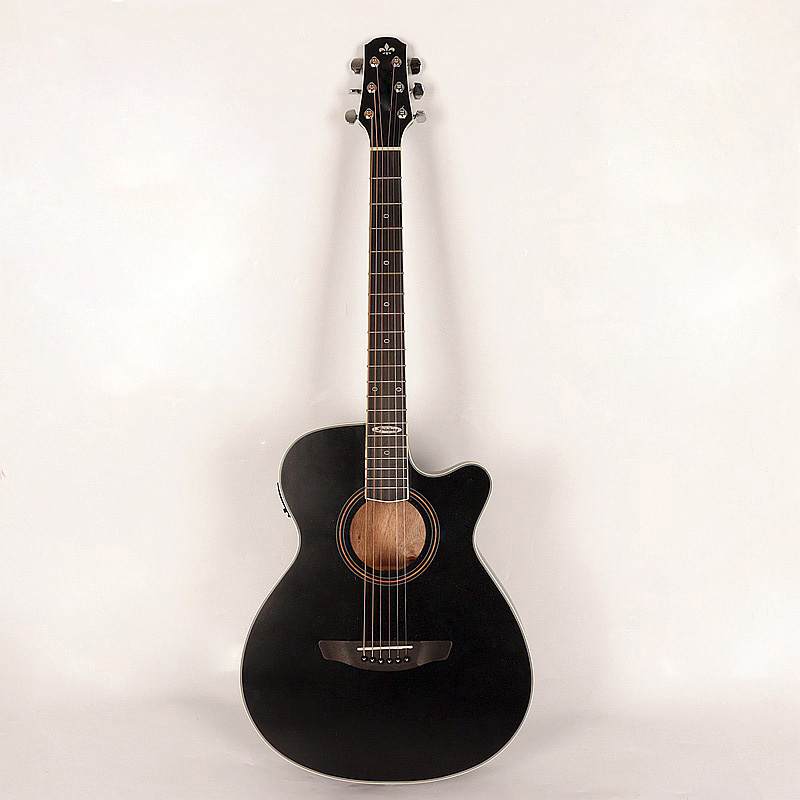 black color thin body good quality acoustic electric guitarblack color thin body good quality acoustic electric guitar