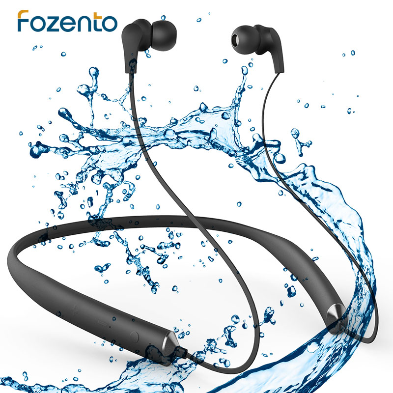 FOZENTO 4.2 Bluetooth Earphones Inear Headphones Music Earphones Wireless Sport Headsets With Microphone Waterproof For iPhone nfc dacom athlete bluetooth headsets wireless sport headsfree headphones stereo music earphones fone de ouvido with microphone