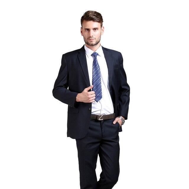 (Chaquetas + Pantalones) hombres Trajes Delgado Custom Fit Tuxedo marca moda  bridegroon boda Trajes 06f1f0306720