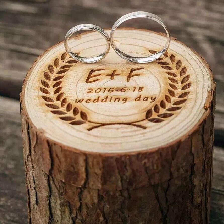 Rustic Wedding Ring Box Holder Custom Ring Box Personalized