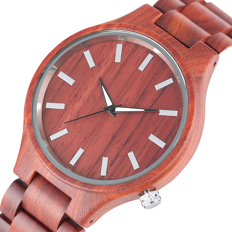 Unique Full Bamboo Wood Watches Fashion Cool Handmade Quartz Wristwatch Men's Fold Over Clasp Bracelet Men's Clock Gift 2017 new arrival hand made full bamboo design quartz wristwatch bracelet clasp green beige dial simple casual male watch gift