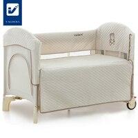 Valdera Портативный детская кровать, многофункциональный кровать переменной таблицы, безопасный и безвкусно