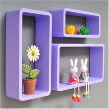 3D Shelves pink,white Decorative