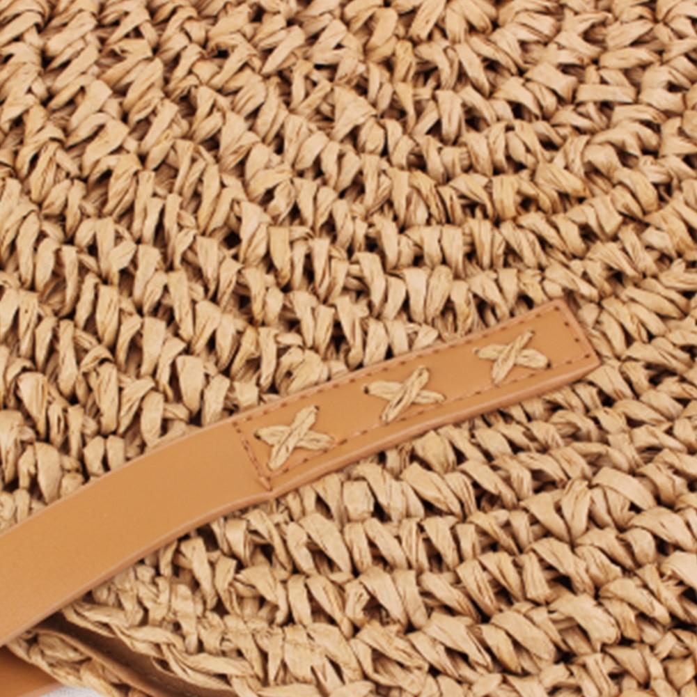 Sveglie Di Estate A Bella Ragazze Grande Spiaggia Tessuti Beige Rotondo Vintage Spalla Delle Capacità Crochet Singola Da brown Paglia Borsa Mano Della Donne 8qEZwTP