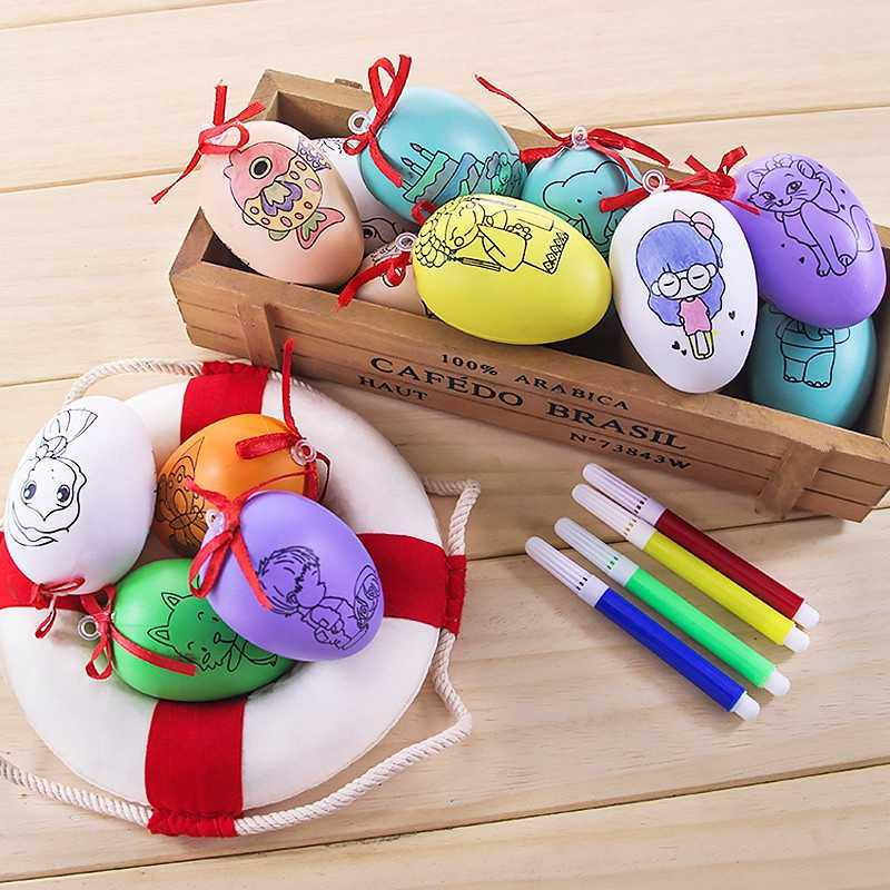 1pcs Plastic Embryo Egg Model With 4Pcs Pen DIY Drawing Board Color Toy Art Training Children Drawing Toys  Gifts  Random  Color