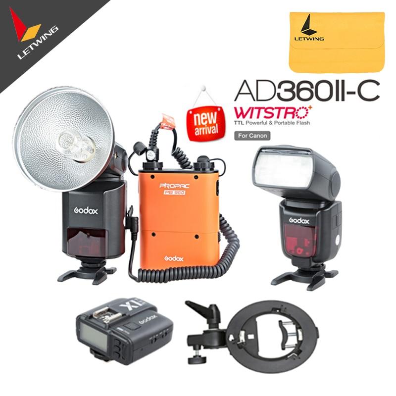 Newest Godox AD-360 MARK II AD360II-C E-TTL Portable Flash Light & PB960 Lithium Power Pack & X1C TTL Transmitter Kit  tombo 1210 folk blues mark ii c