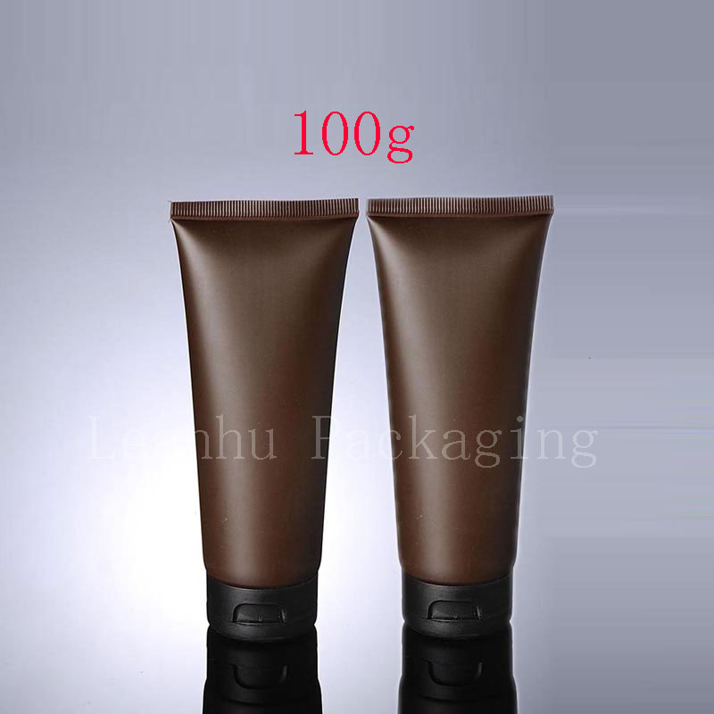 100g X 50 Empty Brown Soft Tube For Cosmetic Packaging 100ML Lotion Cream Plastic Bottle Skin