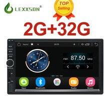 2Din Автомобильный мультимедийный проигрыватель 2G + 32G gps Музыка Аудио Видео Автомобильная магнитола на андроид MP3 MP4 Wi-Fi Bluetooth 7 дюймов сенсорный экран SWC FM USB