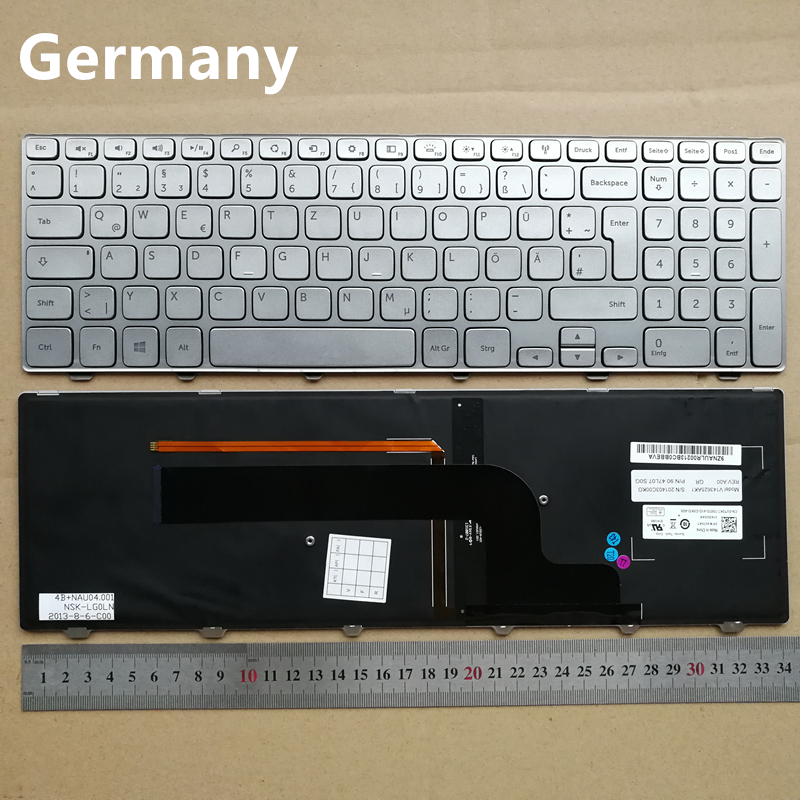 Germany GR layout new laptop keyboard for Dell Inspiron 7537 7737 P36F 15HR-1528 Teclado Win 8 0VT0KT V143625AK laptop keyboard for gateway id57 silver gr germany with frame v121702dk1 gr pk130im1a09 118a30295