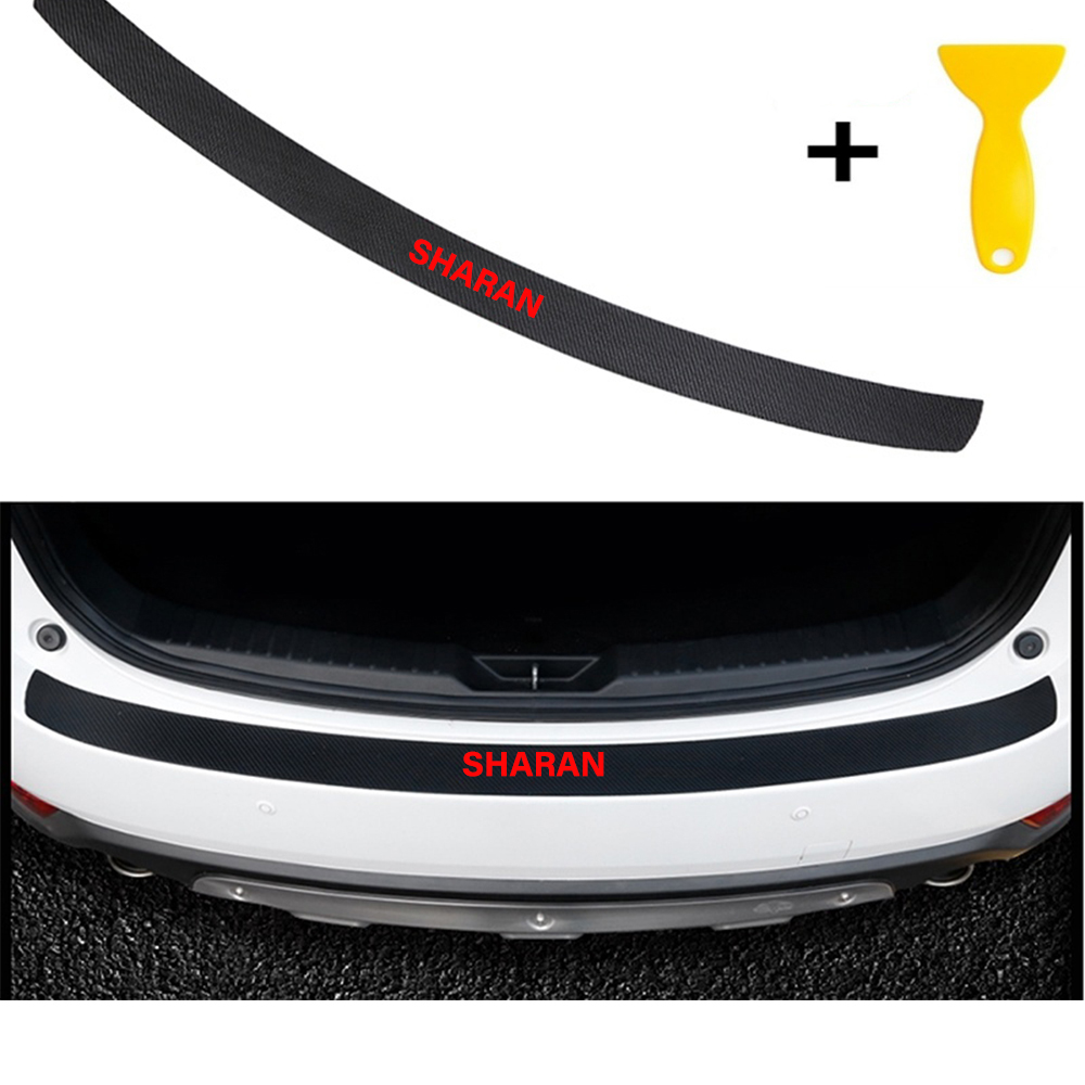 Carbon Fiber Styling After Guard Rear Bumper Trunk Plate Car Accessories.... for SHARAN