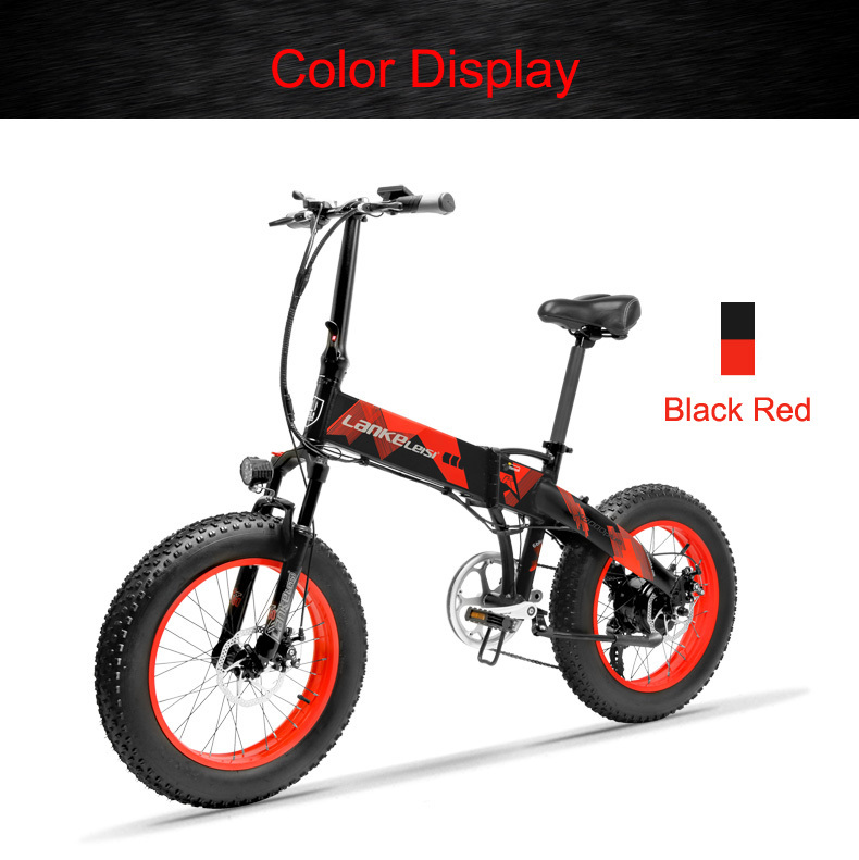 HTB1tLPKbnjxK1Rjy0Fnq6yBaFXa1 - 20 Inch Electrical Snow Bike Electrical Bicycle Two Wheel Brushless Motor 500W 48V Mountain Bike Folding Moveable Electrical Scooter