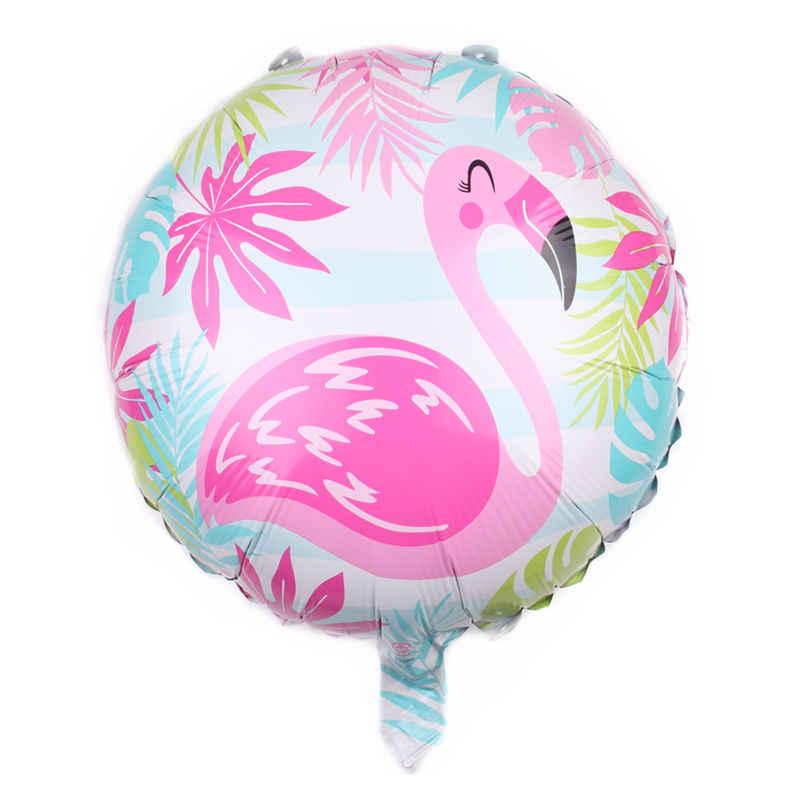 Xxpwj nuevo globo redondo de aluminio de 18 pulgadas con forma de flamenco decoración de fiesta de los niños globo decorativo sello DD-003