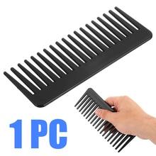 Pente dente amplo, 19 dentes pretos de plástico abs resistente ao calor pente grande grande para o estilizamento do cabelo