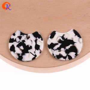 Image 5 - Cordial Design 36*36MM 50Pcs Jewelry Accessories/Hand Made/Acetic Acid Bead/Round Coin Shape/DIY Jewelry Making/Earring Findings