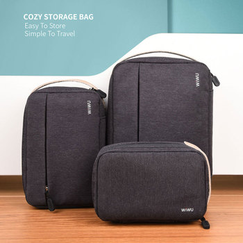 WIWU New Design Digital Bag Water-resistance Nylon Storage Box Carrying Case Power Bank Headphone USB Cable Travel Storage Bag