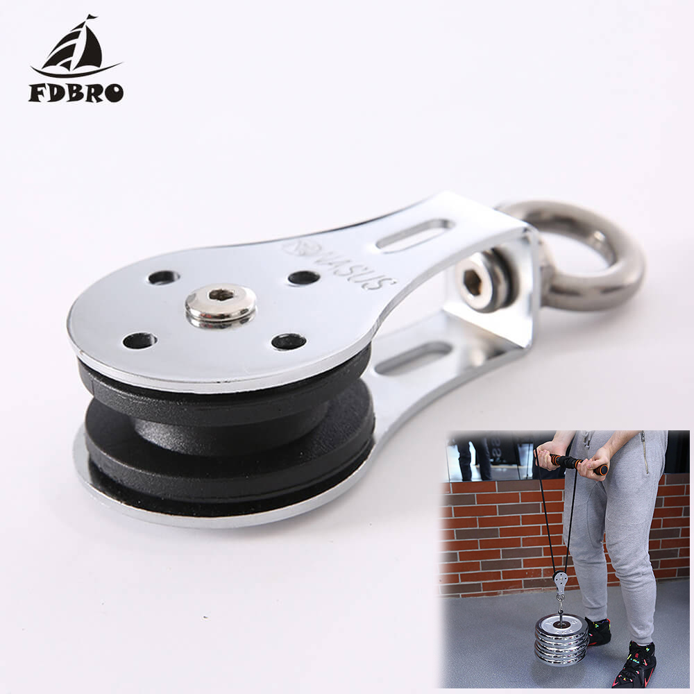 Galleria fotografica FDBRO 2019 NEW 300KG Fitness Strength Training Accessories Bearing Lifting Wheel Pulley Silent Gym Fitness Equipment Accessories