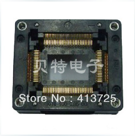 Imports of IC test seat OTQ-100-0.65-03 burning QFP100 adapter conversion