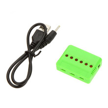 3.7V 1 to 6 Multi-function JST Lipo Lithium Battery USB Balance Charger for Hubsan H107 & Syma X5C & UDI U818A & MJX X400
