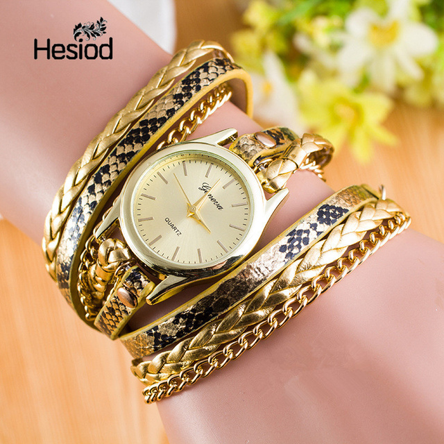 Hot Sale Geneva New Fashion Retro Leather Quartz Watch Women Dress Watches Weave