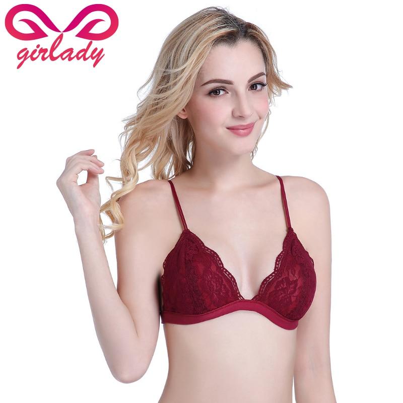 853d9782309ef GIRLADY Transparent Sexy Bra Underwear Women Strappy Triangle Bra Ladies  Cotton Brassiere Summer Lace Bralette Bras For Women