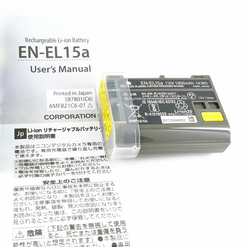 EN-EL15a ENEL15a EN EL15a Battery Batteries for Nikon D850 D810 D810A D750 D500 D7500 D7200 D7100 Replace EN-EL15 / EL15 en el15a 7 4v 3200mah battery pack for nikon mb d11 std nd7000